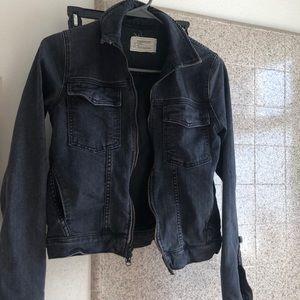 Current/elliott moto denim jacket